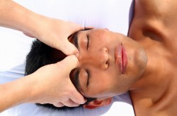 Indian Head, Face and Foot Massage with Ayurvedic Oils