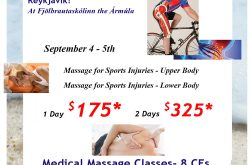 Medical Massage for Sports Injuries – in Iceland!